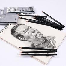 14 Pcs/set Professional Sketch and Drawing Writing Pencil Stationery Supplies 6H 4H 2H HB B 2B 3B 4B 5B 6B 7B 8B 10B 12B Pencil шахматы forerunner b 6 a 6b 6c 6d 6e 6f 6h 6