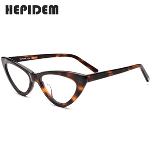 Image 4 - Acetate Optical Glasses Frame Women Brand Designer Cat Eye Prescription Eyeglasses New Fors Ladies Cateye Spectacle Eyewear