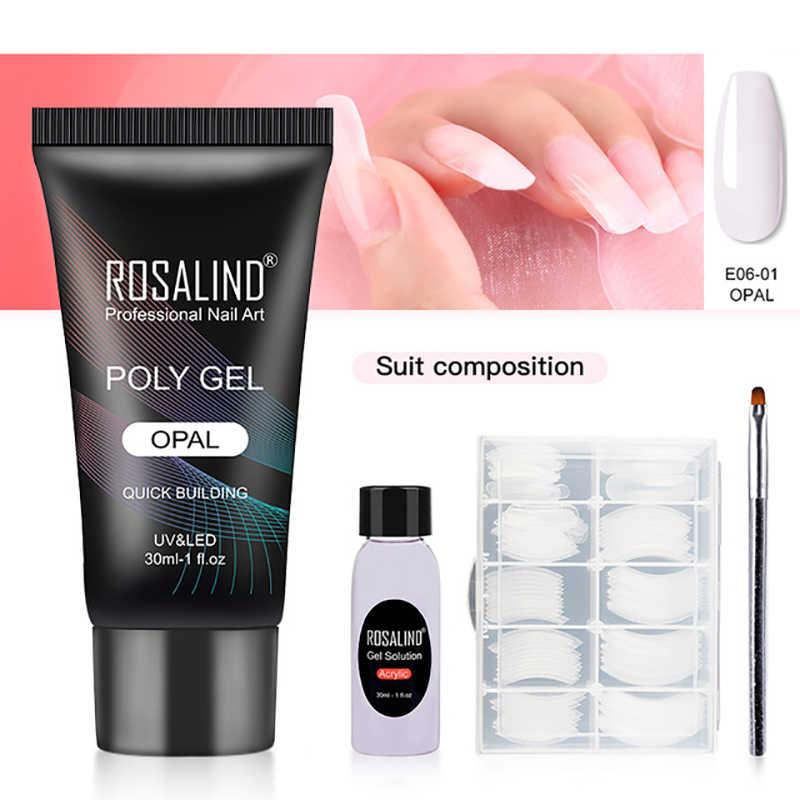 Rosalind Poly Gel Nail Polish Set Voor Nail Art Design Extension Builder Gel Voor Manicure Polygel Nail Kit Vernis Poly tool