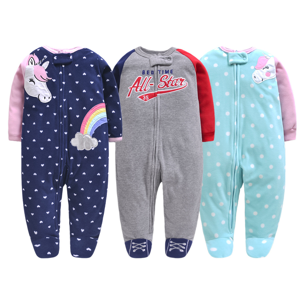 2019 <font><b>baby</b></font> <font><b>clothes</b></font> unicorn <font><b>fleece</b></font> warm pajamas zipper <font><b>baby</b></font> boy <font><b>romper</b></font> toddler jumpsuit bebe <font><b>clothes</b></font> <font><b>baby</b></font> <font><b>girl</b></font> <font><b>romper</b></font> <font><b>christmas</b></font> image