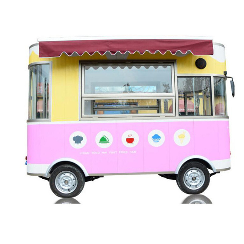 2019 Electric mobile mobile fast food ice cream street food cart truck for food trailer cart
