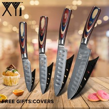 VG10 Damascus Steel Kitchen Knife Set XYj 3 4 5 6 Fruit Utility Slicing Chef Japanese Cooking Tools