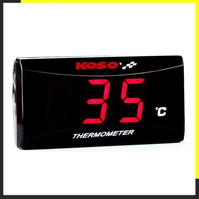 Termómetro de motocicleta KOSO quad cuadrado instrumento digital higrómetro de humedad medidor de temperatura sensor pirómetro termostato