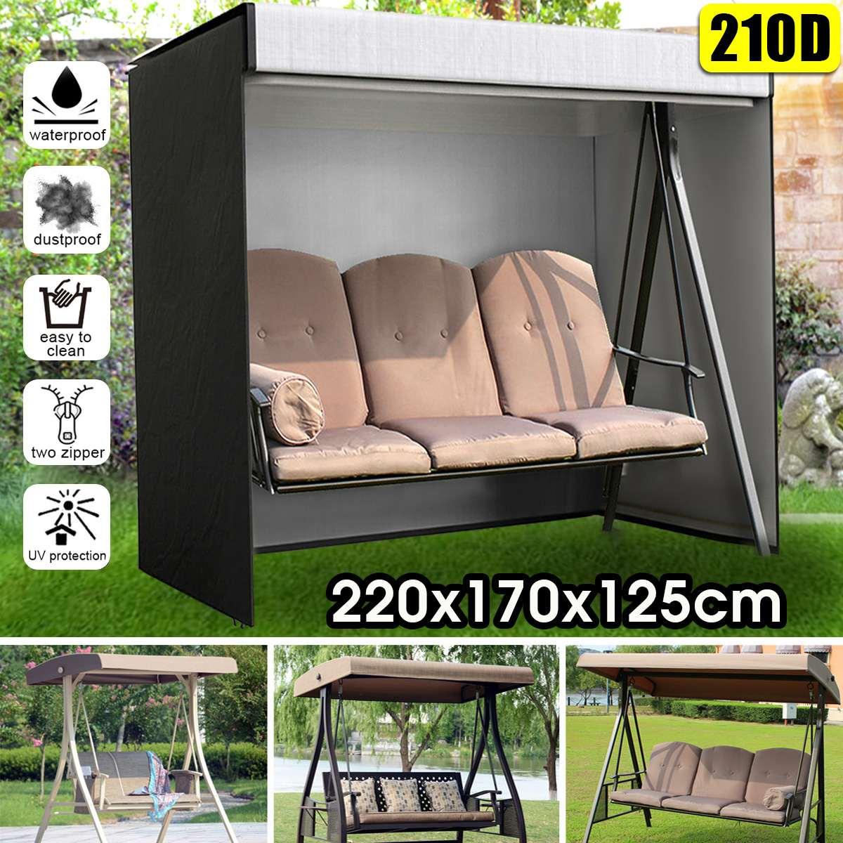 210D 3 местный Висячие качели кресло гамак пылезащитный чехол наружная садовая мебель протектор пылезащитные чехлы