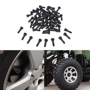 Image 1 - 100pcs TR413 Rubber Car Tubeless Vacuum Snap in Tire Tyre Valve Stem