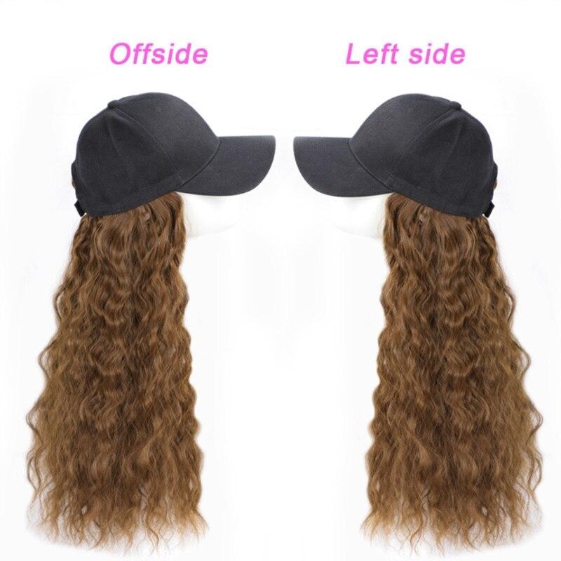28'' Artificial Hair Simple One-piece Curly Hair Baseball Fashion SunProtect 35EF