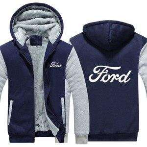 Image 5 - แฟชั่นฤดูหนาวชายเสื้อผ้าซิปFORD Sweatshirt Hoodies Coat 5 สีชายเสื้อแจ็คเก็ต