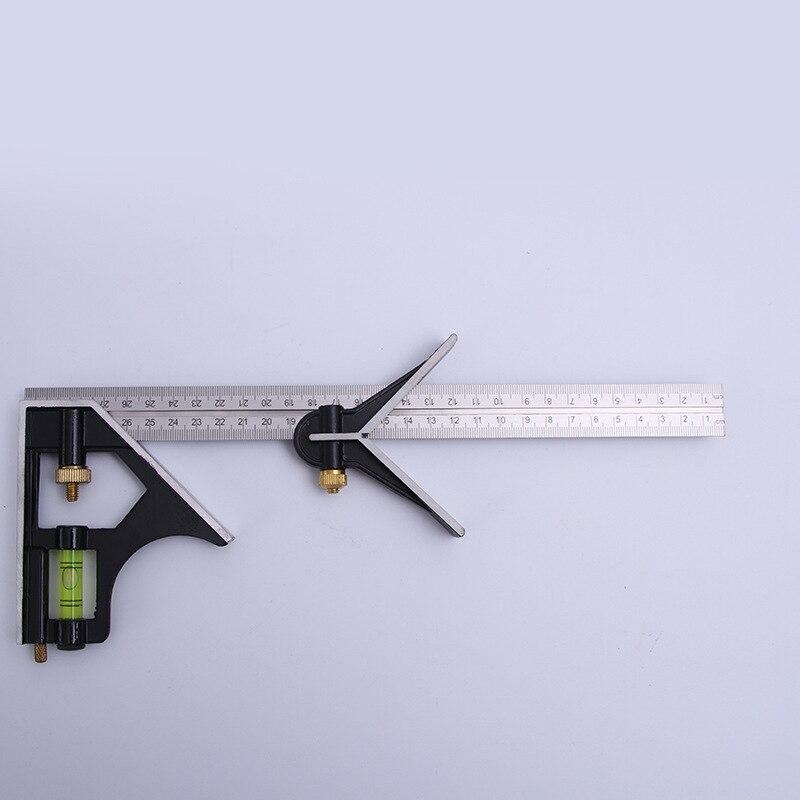 CJ-5022 Multi-functional Woodworking Angle Ruler Activity Horizontal Ruler Aluminium Alloy 45-Degree Right Angle Combination Esq