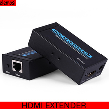 1080p 3D HDMI Transmitter Receiver 60M HDMI Extender HDMI To RJ45 Single Network Cable Extender Converter US EU Plug 5pcs lot single cat5e 6 hdmi wall plate extender ir video us w bi direction new white up to 50meter 1080p 3d
