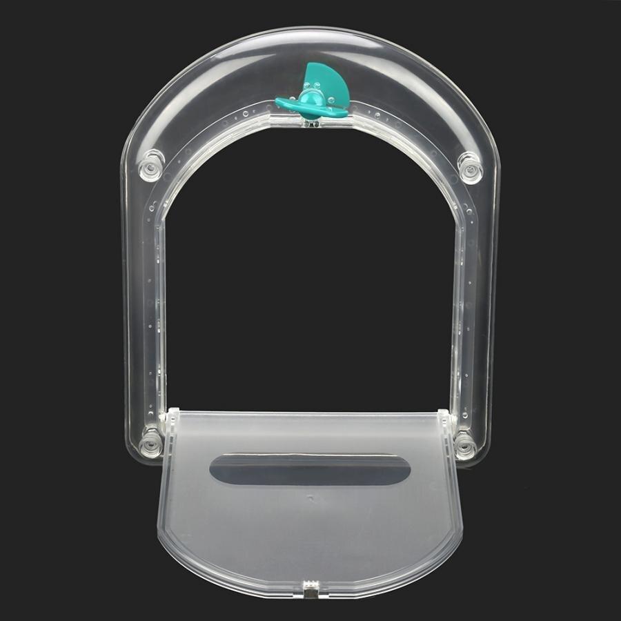 Transparent Lockable Dog Cat Kitten Door Security Flap Door ABS  Flexible Animal Small Pet Cat Dog Gate Door Pet Supplies