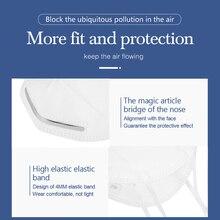 100pcs Pm2.5 N95 Dust Mask 3 Layers Filter Respirator Face Mask KN95 Mask Anti Flu Infection N95 Mask same as FFP2 mascherine
