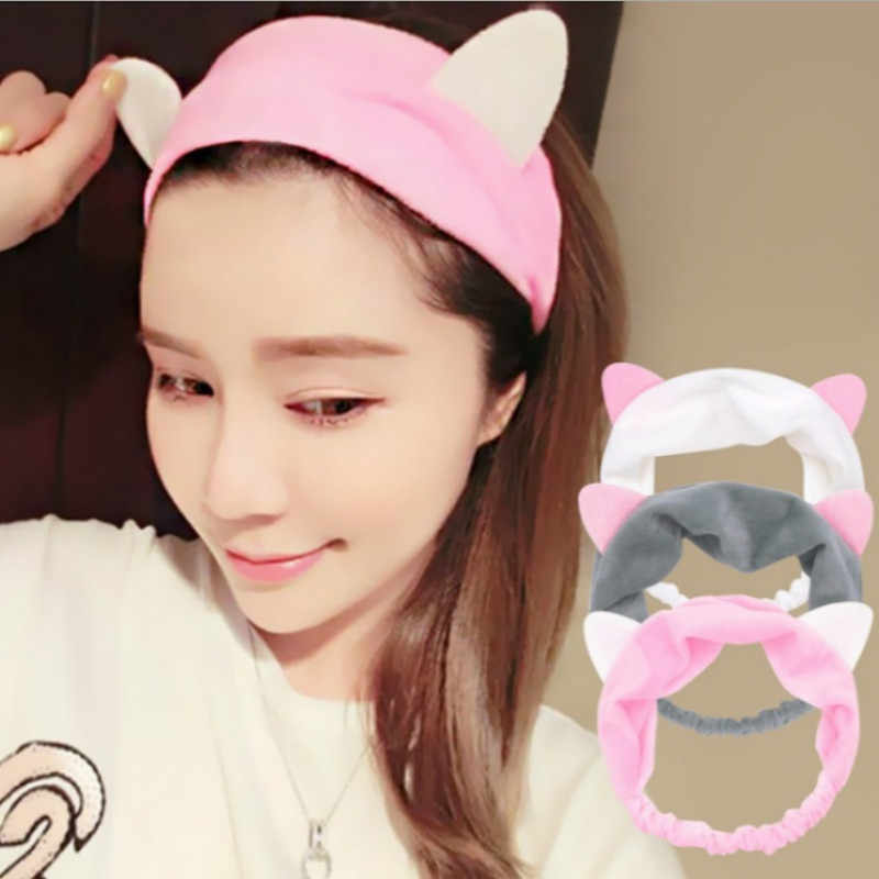 1PC Cute Fashion Women Girls Cartoon Cat Ears Soft Headband Hairband Party Headdress Hair Accessories
