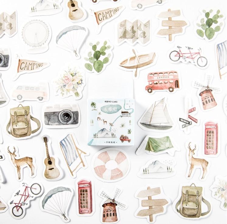 S168- Go Trip Diy Decorative Sticker(1pack=46pieces)