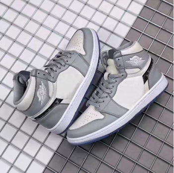 2020 new brand authentic OG grey and white 1:1 men's high top basketball shoes shoes outdoor high quality free delivery