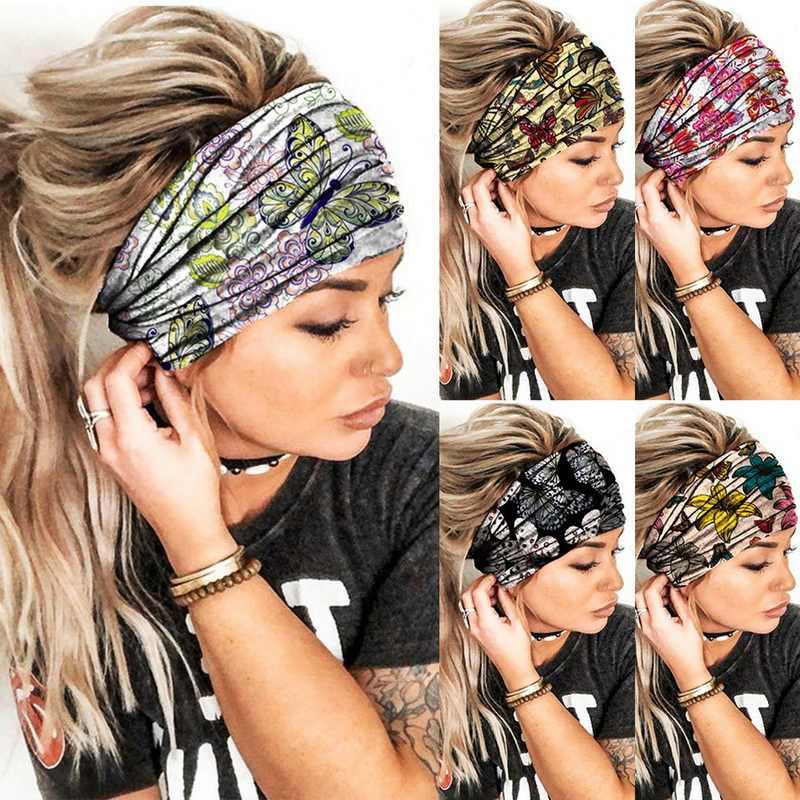 Women Fashion Elastic Turban HeadWraps HeadBands Sports Yoga Hair Bands.