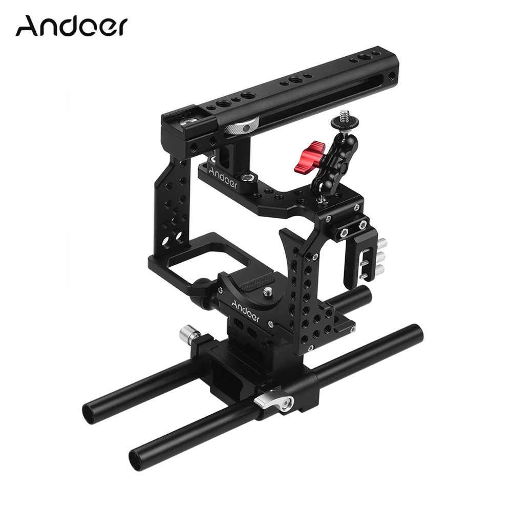 Andoer Camera Kooi Video Film Movie Maken Stabilizer Koude Schoen Montage Adapter voor Sony A7II/A7III/A7SII/ a7M3/A7RII/A7RIII