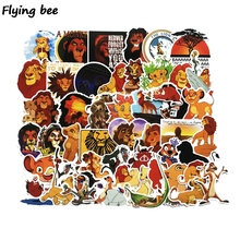 Flyingbee 50 pcs The lion king Sticker Anime Stickers for DIY Luggage Laptop Skateboard Car Motorcycle Bicycle Stickers X0525 flyingbee 44 pcs creative cool sticker anime stickers for diy luggage laptop skateboard car motorcycle stickers x0004