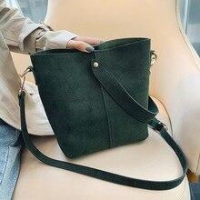 Vintage Scrub Leather Bucket Bag Women Designer Handbags Luxury Pu Shoulder Bags Large Capacity Crossbody Casual Totes Purse