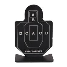 6Pcs Shooting Target Airsoft Metal Set Arrow Practice Board Small Person Shape Black