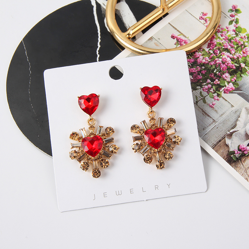 H6d1cd81b9522472e9e5c6e9295643d9f4 - 2019 New Hot Sale 20 Style Red Fashion Korean Elegant Geometric Dangle Earrings for Women Cute Pendant Mujer Jewelry