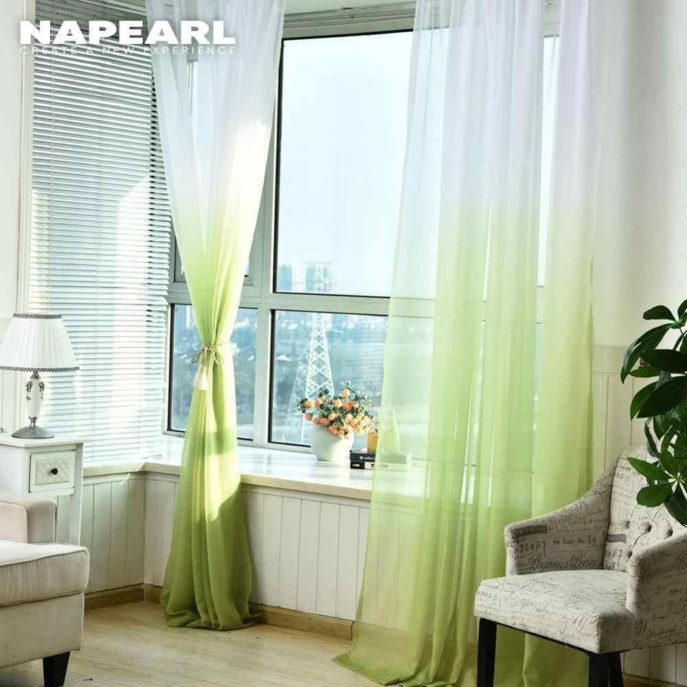 Colore solido di colore della cucina pronto tulle porta Voile Voile trasparenti arcobaleno balcone finestra tessuti realizzati tenda camera da letto tenda
