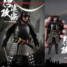 Full set figure doll Collection PE006/PE007 1/12 Set Japanese Samurai Soldier DATE MASAMUNE BLACK ARMOR ASHIGARU