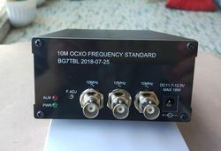 Бесплатная доставка BG7TBL 10 МГц OCXO Частота Стандарт 2 канала синусоида 1 канал квадратная волна