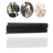 50PCS 22cmx3mm Fiber Sticks Diffuser Aromatherapy Volatile Rod for Home Fragrance Diffuser Home Decoration