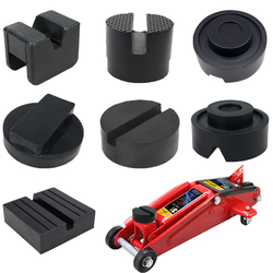 Different Types Car Lift Jack Stand Rubber Pads Black Rubber Slotted Floor Jack Pad Frame Rail Adapter Universal