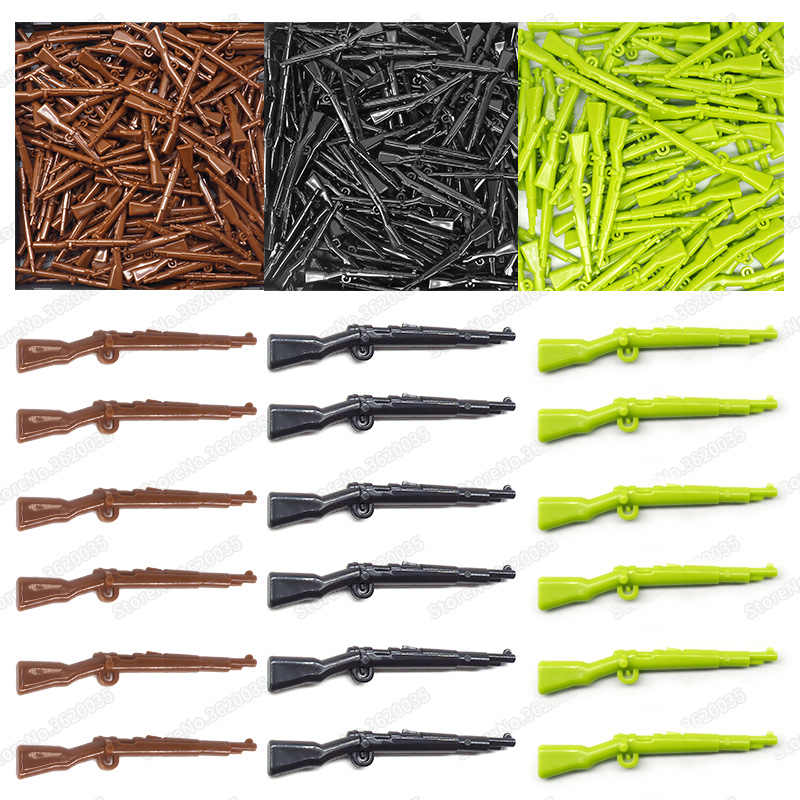Legoinglys Weapons Military Building Blocks Rifle Germany Figures 98k Set Diy World War 2 Army Gun Moc Child Christmas Gift Toys