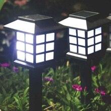 4PCS Solar Powered Garden Lawn Lamps Path Lights Palace Lantern Style Landscape Lighting for Garden Decoration Light Sensor Lamp