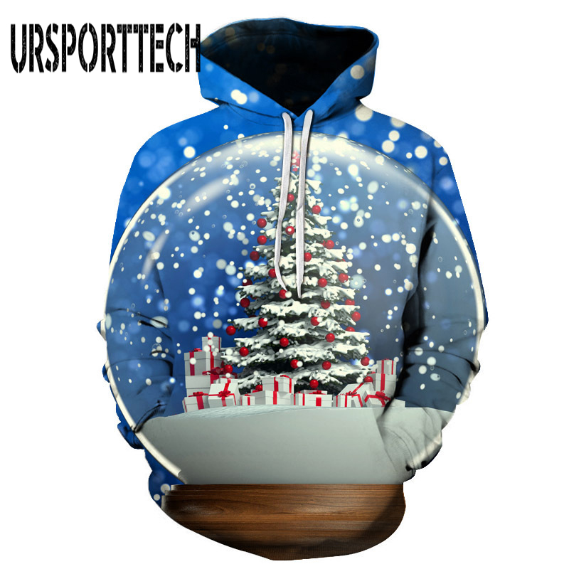 New Christmas Hoodie Men Hip Hop 3d Hoodies Anime Clothes Xmas Tree Geometric Print Hooded Sweatshirt Mens Clothing Pullover 6XL