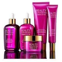 Face-Skin-Care-Sets Facial-Cleanser Serum with Box Caviar Essence Milk Eye-Creams Moisturizing