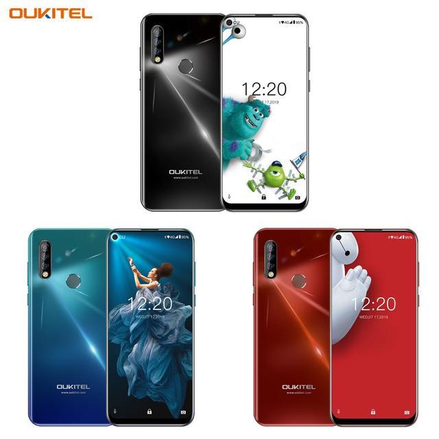 """OUKITEL C17 Pro Smartphone 6.35 """"19.5:9 Android 9.0 MTK6763 Octa Core 4G di RAM 64G ROM Dual 4G LTE Posteriore Triple Telecamere Mobile telefono"""