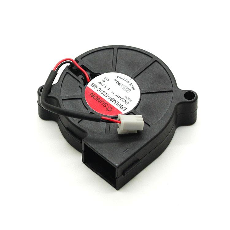 For Sunon 3D Printer Blower Fan 5015 DC 24V 0.41A Double Ball Bearing Fan Centrifugal DC Cooling Turbo Fan EF50152B1-1C01C-A99