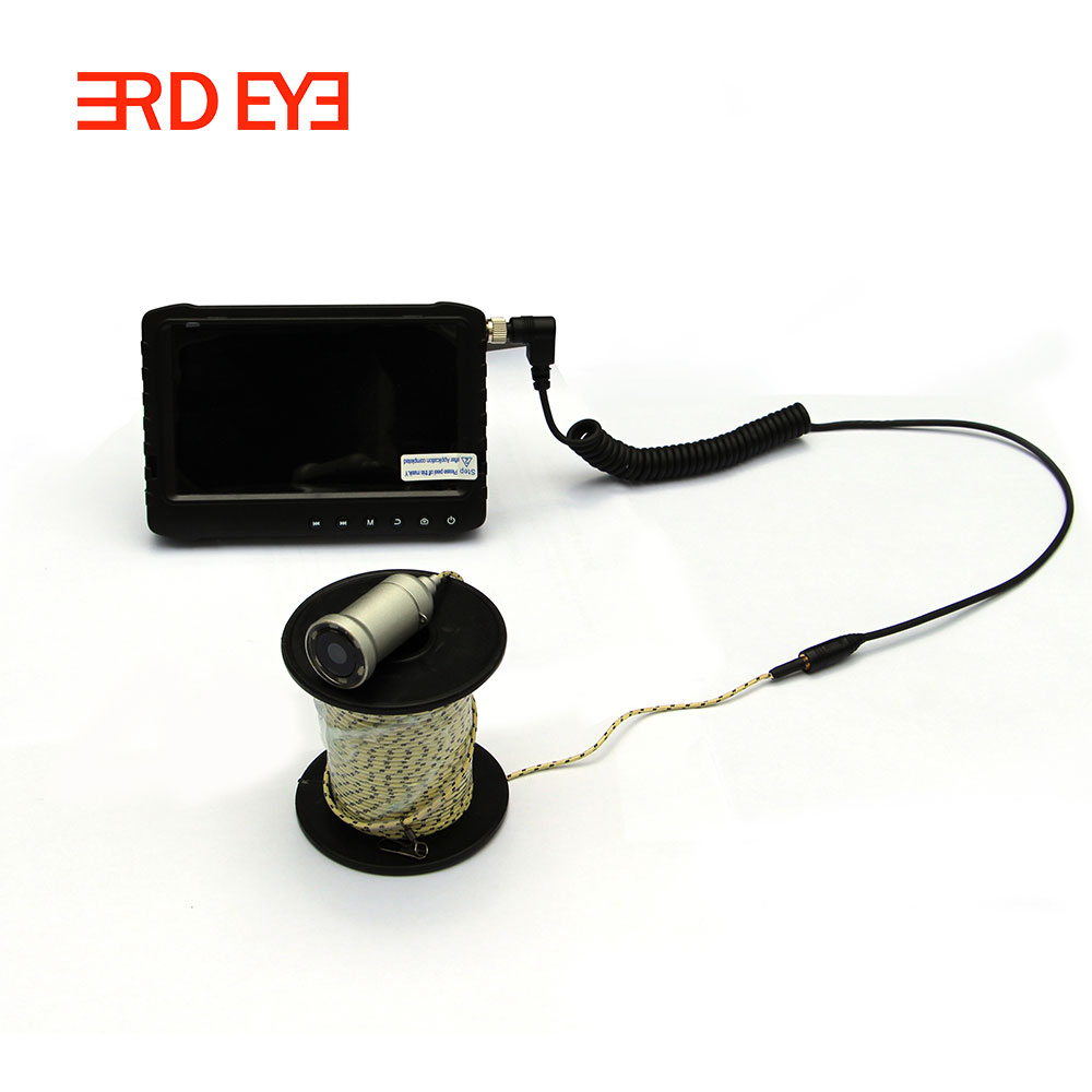 "Full HD 2MP  Ice sea Fishing Camera Video night vision Fish Finder 5"" LCD 6pcs IR  brightness control"