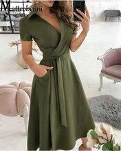 Summer Fashion New Short Sleeved Deep V-Neck Letter Printed Maxi Dress Female High Waist With Belt Long Dresses Women's Clothing