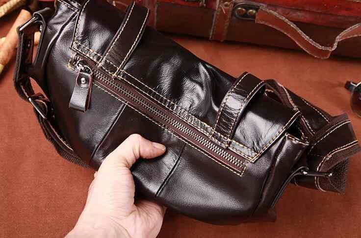Sac pour hommes en cuir angleterre Postman sac décontracté Business sac à bandoulière Messenger huile cire cuir