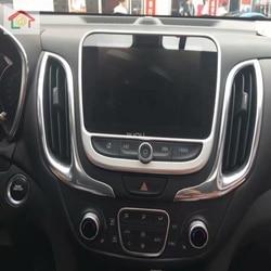 Abs prata interruptor de ar condicionado do carro painel guarnição capa apto para chevrolet equinox 2017 2018 2019