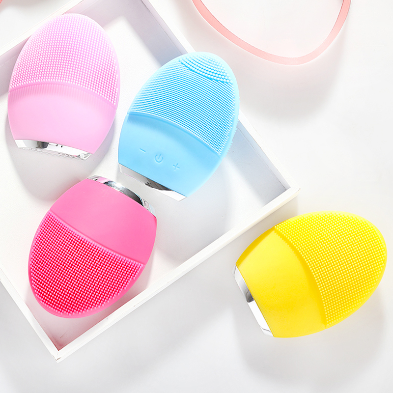 Powered Facial Cleansing Devices Brush Sonic Silicone Cleanser Waterproof USB Rechargeable Skin Care Massage Face Cleaning Brush