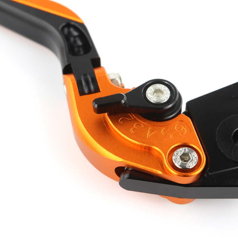 Duke 790 Palanca de Embrague de Freno CNC Aluminio Ajustable Plegable para KTM Duke 790 2018 2019-Naranja+Naranja+Negro+Negro