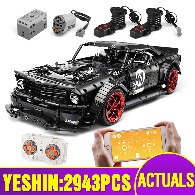 20102 Technic Car Toys Compatible With Lepining MOC-16915 Mustang Hoonicorn With Motor Function Kids Car Model Building Block