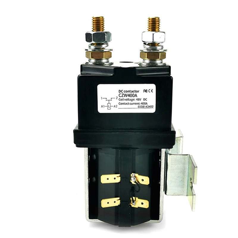 H6d1e355fd45144b3afb5b1e5c5268c403 - SW200 400A DC Contactor Normally Open 12V 24V 36V 48V 60V 72V DC Contactor CZW400A for forklift handling wehicle car winch