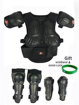 Czarny 4-15 lat dzieci Moto kolarstwo rowerek biegowy zbroja na całe ciało klatki piersiowej kręgosłupa ochraniacz na łokieć motocykl kamizelka garnitury tanie i dobre opinie 0 85-1 7M 4-15 years