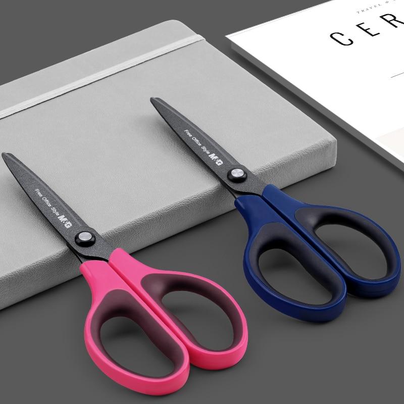 M&G Black Technology Non-stick Teflon Scissors ergonomic Andstal Blades blade Scissor for school office supplies sissors craft 2