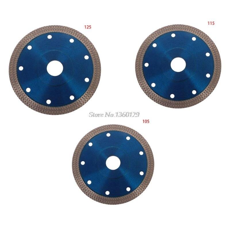 Super Thin Diamond Ceramic Circular Disc Saw Blade 105/115mm/125mm Porcelain Blade Hot Sintered Cutting Blade For Cut Dropship