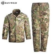 HAN WILD-ropa de camuflaje de campamento para niños, uniforme militar táctico de entrenamiento de tiro CS Airsoft, trajes