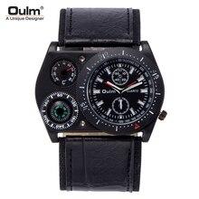Oulm-reloj militar Original para hombre, brújula, termómetro