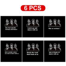 цена на 6pcs Vinyl Decal Car Sticker Funny Stay At Home Or Dance With Us Car Styling for COFFIN DANCE Car Exterior Auto sticker Hot Sale
