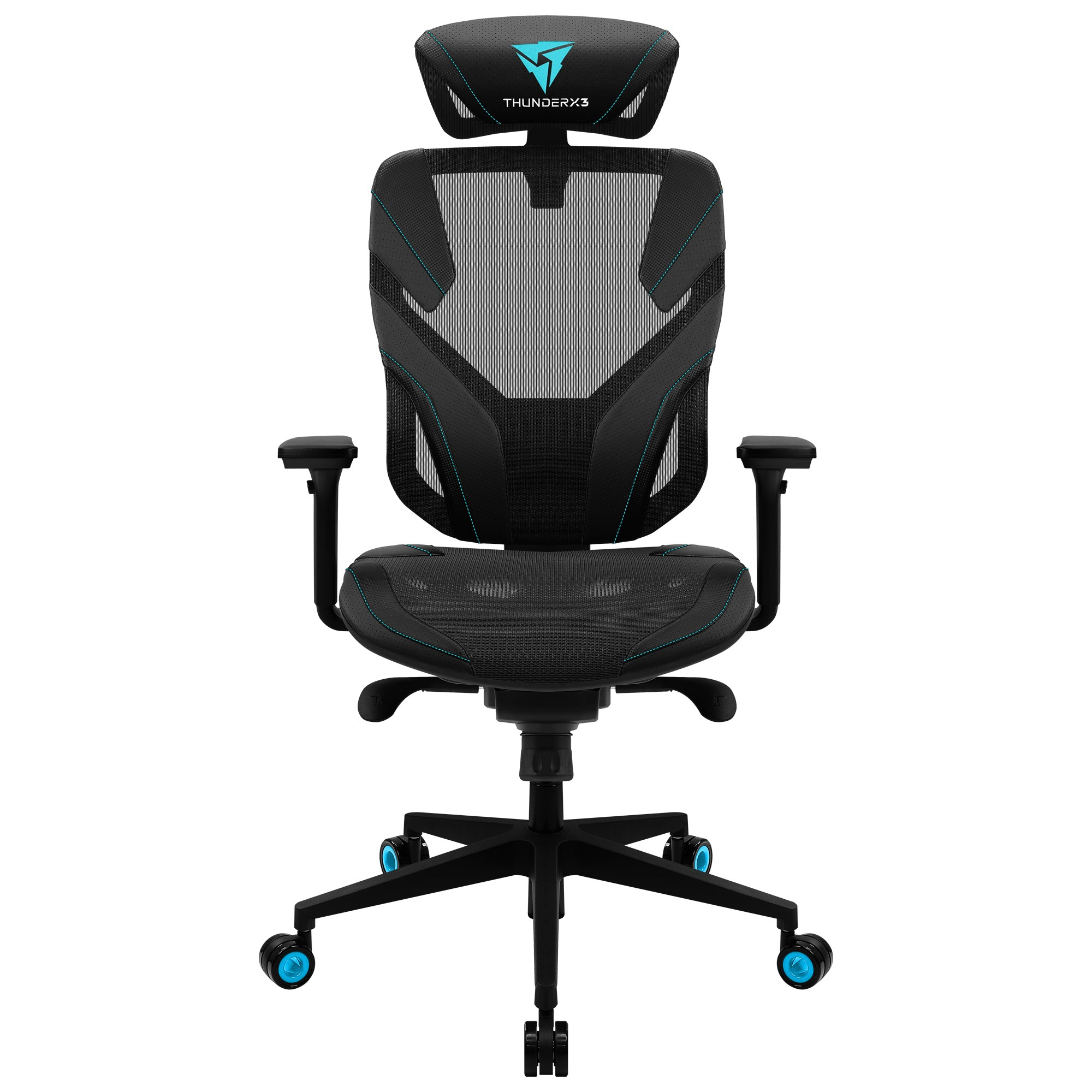 ThunderX3 Yama 5, Gaming Chair, Technology AIR, Fully Adjustable, Cyan